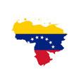 venezuela flag and map vector image