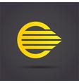 Golden arrow sign vector image