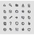 Sticker icons for interface vector image vector image