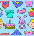 doodle of baby art vector image