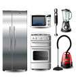 Kitchen appliance set vector image vector image