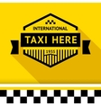 Taxi badge 14 vector image