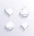 Card game icons with shadow vector image vector image