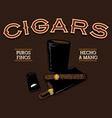 Retro Cigar AD vector image vector image