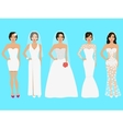 a set of wedding dresses vector image