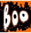 boo card vector image
