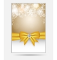 Christmas Snowflakes Website Banner and Card vector image