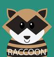 Cute racoon cartoon flat icon avatar vector image