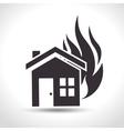 house insurance fire house design vector image