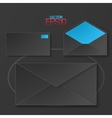 Modern flat design mails with drop shadows vector image