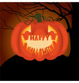 Poster Halloween night vector image