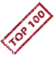 Stamp Top 100 vector image
