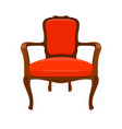 vintage red armchair on white background vector image