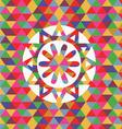 unusual snowflake vector image