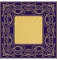 Gold vintage frame with floral ornamental border vector image vector image
