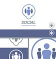 Social Media Dating Network Logo Concept vector image