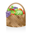 fruit basket vector image vector image