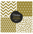 christmas golden patterns set 1 vector image vector image