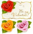 rose greeting cards vector image vector image