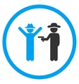 Boy Crime Rounded Icon vector image