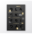 Black Friday Swiss Style Typography Poster or vector image