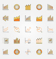 colorful diagram and graph icons vector image