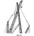 crane line vector image