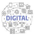 digital linear vector image