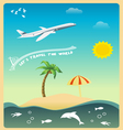 Lets Travel The World vector image