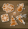 merry christmas holiday decoration background vector image