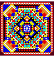 Mosaic background of geometric ornament with color vector image