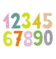 Set of numbers 0-9 letters vector image