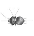 The first spaceship Vostok vector image