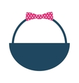 basket bow isolated icon vector image