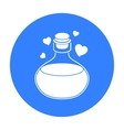 Love potion icon in black style isolated on white vector image