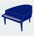 grand piano on notebook sheet vector image