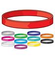 Rubber bracelet vector image vector image
