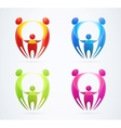 Family concept holding hands vector image