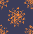 Orange Abstract Flowers vector image