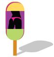 ice cream witrh girl in panties vector image