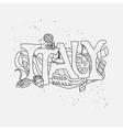 Italy hand-drawn design vector image