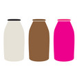 milk bottles icon on white background milk vector image