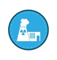 nuclear power plant tower energy circle vector image