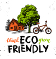Sketch ecology background Hand drawn Hand vector image