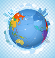 scheme on the Earth vector image vector image