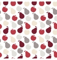 seamless fruit pattern- apple and pear vector image