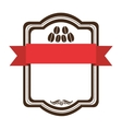 coffee emblem icon image vector image