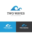 Two waves logo vector image vector image