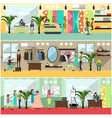 set of fashion atelier posters banners in vector image