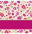 valentine background with pink hearts and gifts vector image